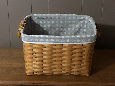 Longaberger Newspaper basket, Divided Protector, Liner Lot