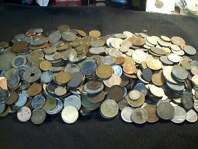 World Coins-Almost 6 Lbs. With Much Vintage-Also Silver & 1800's