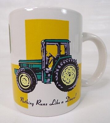 John Deere Licensed Collectable Coffee Mug Cup Tractor Farm By Gibson