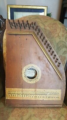 Antique Harp by The Bell Harp Co., Zither 1954