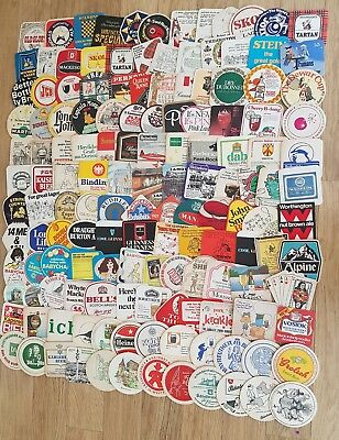 Collection of 290+ Mainly 1960's/1970's/1980's Beermats