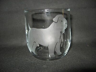 New Etched Wheaten Terrier Glass Tumbler