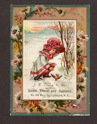 J. K. Perry & Co. Boots, Shoes And Rubbers Victorian Advertising Trade Card
