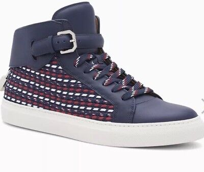 9fe95e0467c286 BUSCEMI MENS 100MM High Top Sneakers Weave Oceano Rtl  1