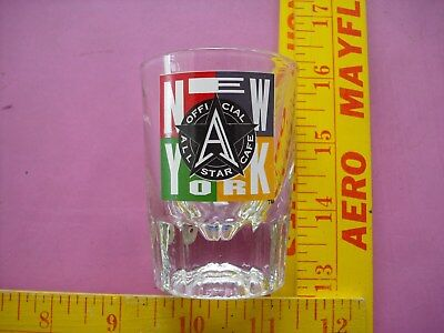 """All Star Cafe,  3"""" Shot Glass, New York - Closed Location!"""