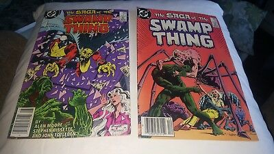 The Saga Of The Swamp Thing #19 Tom Yeates(1983) #27(1984) Allan Moore..fine