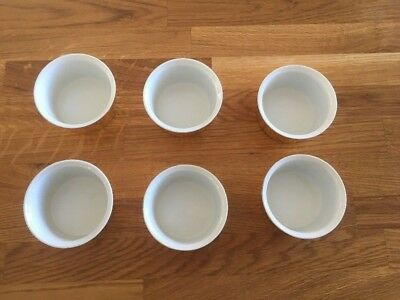 6x Royal Worcester Ramekin Dishes Gold Lustre. Dips Souffles Sauces etc