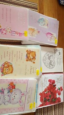 job lot of cards mothers day, wife on mothers day.,wedding invit