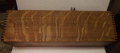 Antique Vintage Old Wood Drawer Decorative Tiger Oak CARD SLIDE RAIL inside