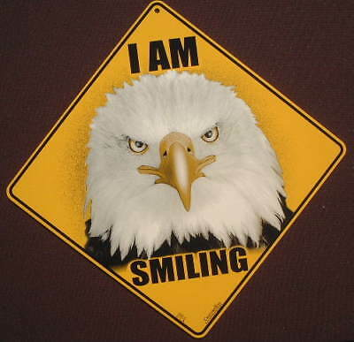 EAGLE CROSSING Sign smiling art decor wildlife birds novelty home signs eagles