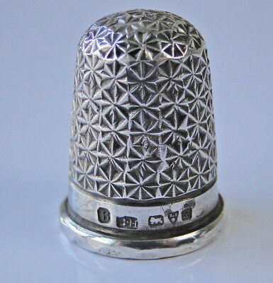 RARE CHARLES HORNER SILVER LOUISE No. 6 Thimble fully hallmarked CHESTER 1902