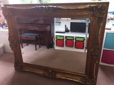 Beautiful ornate gold / gilt frame mirror with bevelled edges