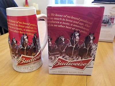 2013 Budweiser Holiday Stein Anheuser Busch New in Box SIGHTS OF THE SEASON