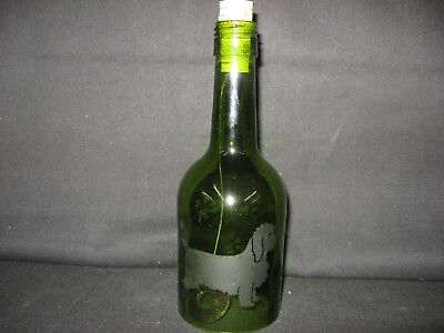 New Etched Petit Basset Griffon Vendeen Glass Wine Bottle Wind Chimes