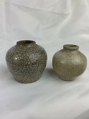 Two Antique Chinese Small Jar