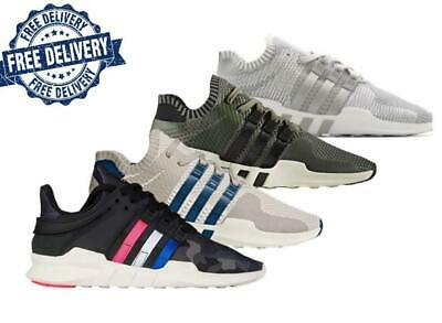 low priced 13065 54b74 Adidas Mens EQT Support ADV PK Trainers Dark GreyBlackGreen (BY9393)