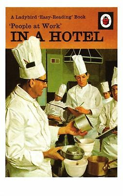 POSTCARD Ladybird Book Cover People At Work - In A Hotel (303)