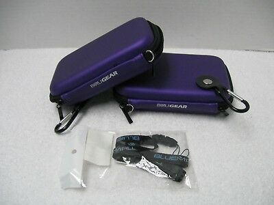 2 Birugear Hard Shell Pouch Carrying Cases & 1 Bluemall Wrist Strap Lanyard -New