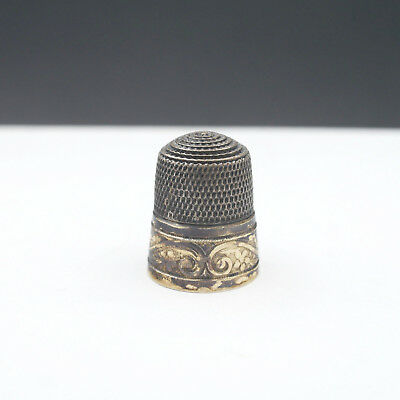 Vintage Simons Brothers sterling silver thimble