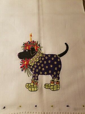 Patience Brewster Krinkles Towel Dogs Christmas Lab Labrador