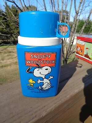 Vintage Snoopy And Woodstock Thermos 1965