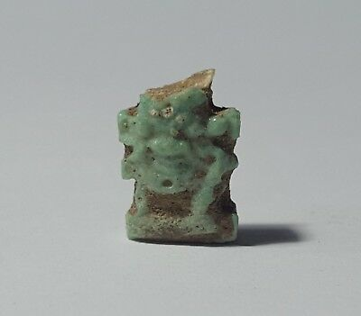 SHABTISHOP: GENUINE Ancient Egyptian Amulet of Bes, Late Period (664-332 BC)