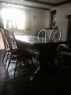 6 Windsor ash bent wood dining chairs