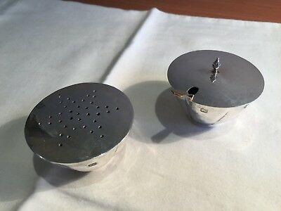 Sterling silver salt and pepper shakers - London 2000