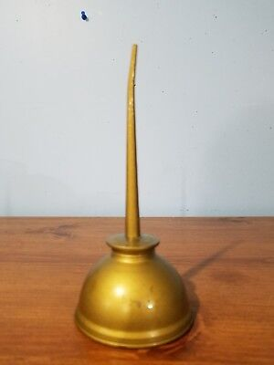 """OIL CAN: EAGLE Thumb Pump Oil Can MADE IN U.S.A. 8"""" magnetic metal, screw top"""
