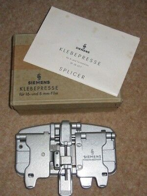 SIEMENS FILM SPLICER for 16mm and 8mm FILM - Made in Germany