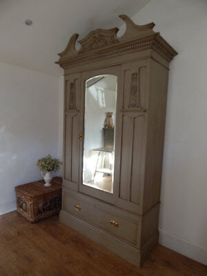 Antique painted wardrobe