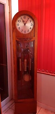 Grandfather Clock Longcase Wooden Westminster Chime