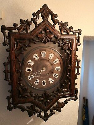 Large Ornate French Carved Wall Clock