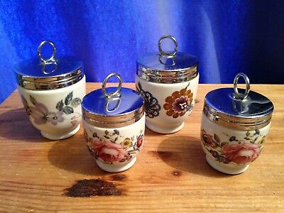 "A Collection of 4 Royal Worcester Egg Coddlers - 3"" and 2.5"""