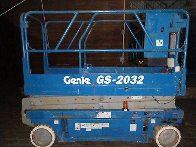 Genie GS-2032 20' Electric Scissor Lift Aerial Manlift 24V FREE LOCAL DELIVERY