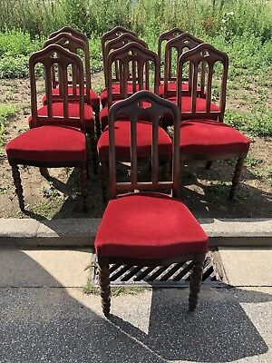 Dining Chairs Set Of 10 Antique