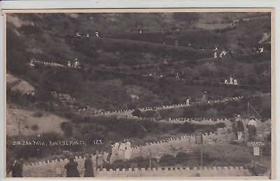 Bournemouth, Uk. The Zig-Zag Path. Vintage Real Photo Postcard