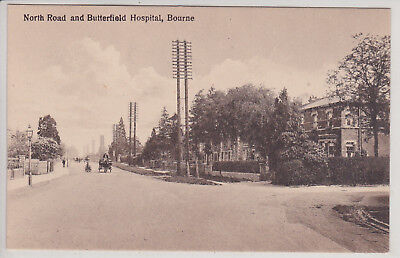 Bourne, Uk. North Road And Butterfield Hospital. Vintage Postcard