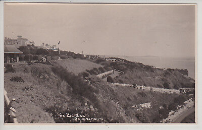 Bournemouth, Uk. The Zig-Zag. Vintage Real Photo Postcard