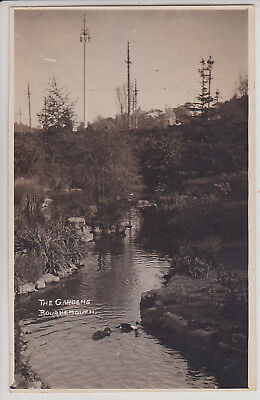 Bournemouth, Uk. The Gardens. Vintage Real Photo Postcard