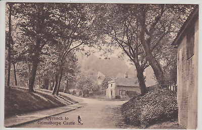 Bourne, Uk. Approach To Chrimsthorpe Castle. Vintage Postcard