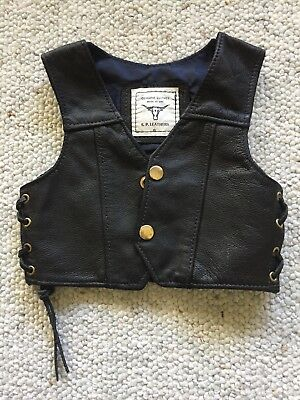 Genuine Leather Vest - Baby Size Small