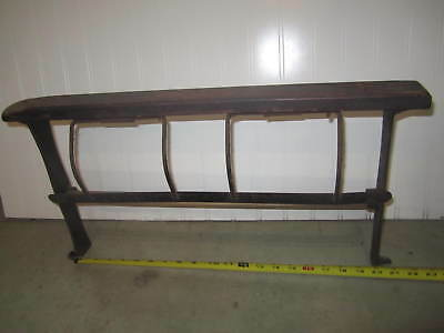 "Antique Cast Iron The Piqua 18"" Butcher Paper Holder Cutter"