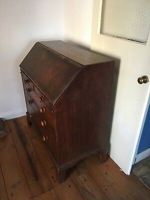 Antique Farmhouse Oak Bureau