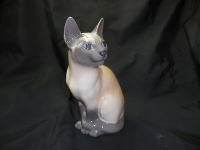 Royal Copenhagen Figurine 3281 SIAMESE CAT SITTING