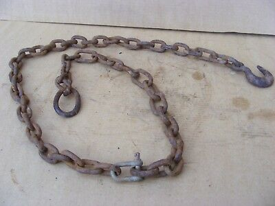 Farm Tow Chain Gate Chain Security Chain With Hook On End 6 Feet Long  #592