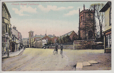 Camborne, England, Uk. Church Street. Antique Postcard