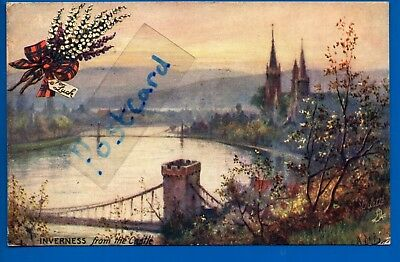 Old Tuck Art Postcard Inverness From The Castle Nr Kilmuir Culloden Bunchrew