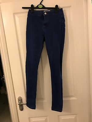 Girls New Look High Rise Blue Jeans Age 13 Years - Worn Once