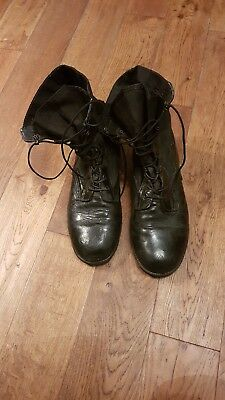 British Army Issue Black Welco Jungle Boots US Made UK Size 12